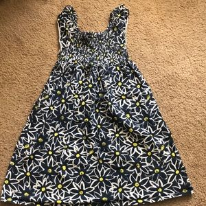 Navy white yellow floral faded glory sundress lg